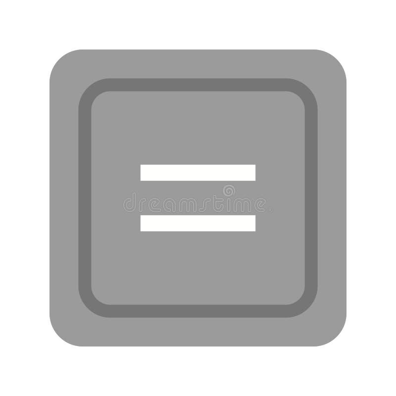 Gleichgestelltes zum Symbol lizenzfreie abbildung