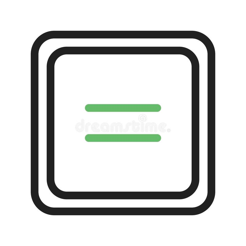 Gleichgestelltes zum Symbol stock abbildung