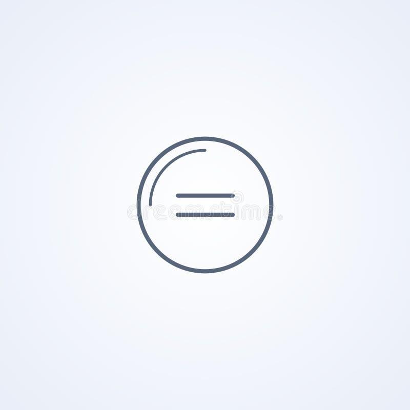 Gleichheit, beste graue Linie Ikone des Vektors stock abbildung