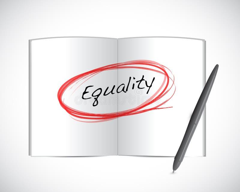 Gleichheitsbuchzeichen-Illustrationsdesign stock abbildung