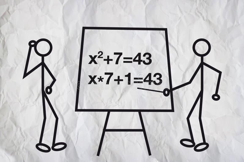 Gleichungen lizenzfreie abbildung
