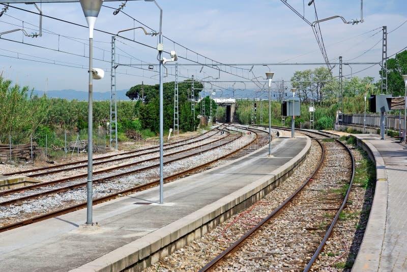 Gleis. stockbild