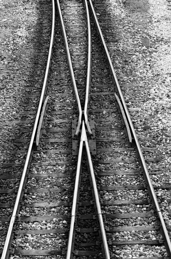 Gleis schließen sich Verzweigung an lizenzfreie stockbilder