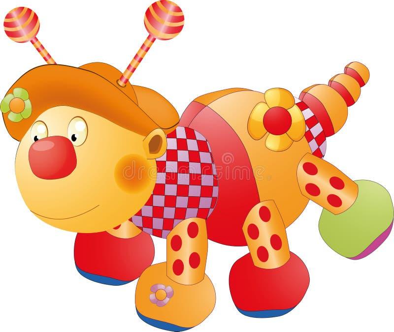 Gleiskettenfahrzeug ein Spielzeug der Kinder lizenzfreie abbildung