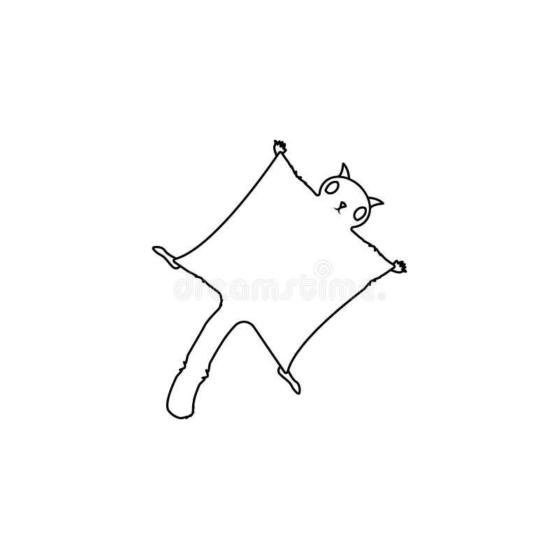 Gleithörnchenikone Element der Nagetierikone Erstklassige Qualitätsgrafikdesignikone Baby unterzeichnet, Entwurfssymbol-Sammlungs lizenzfreie abbildung