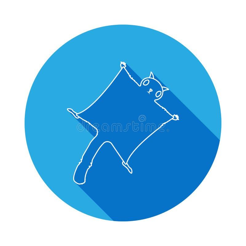 Gleithörnchenikone mit langem Schatten Eins von Spezies von Nagetieren Erstklassige Qualitätsgrafikdesignikone Zeichen und Symbol vektor abbildung