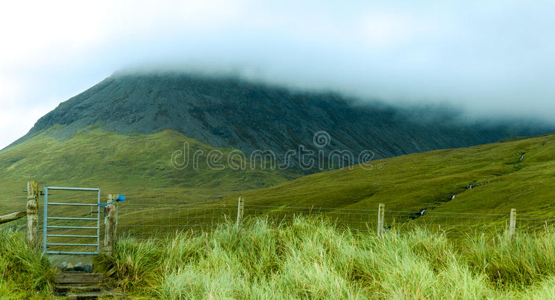 Glen εύθραυστος, νησί της Skye στοκ εικόνες