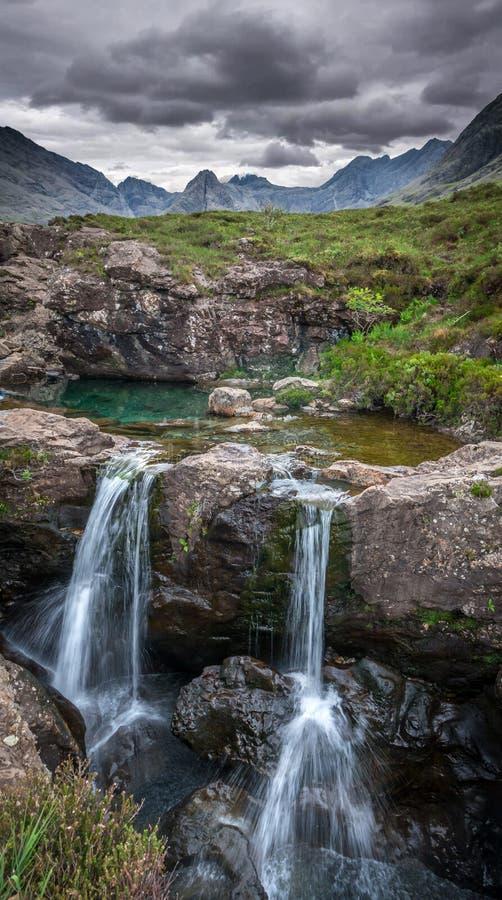 Glen Brittle - piscines féeriques photographie stock libre de droits