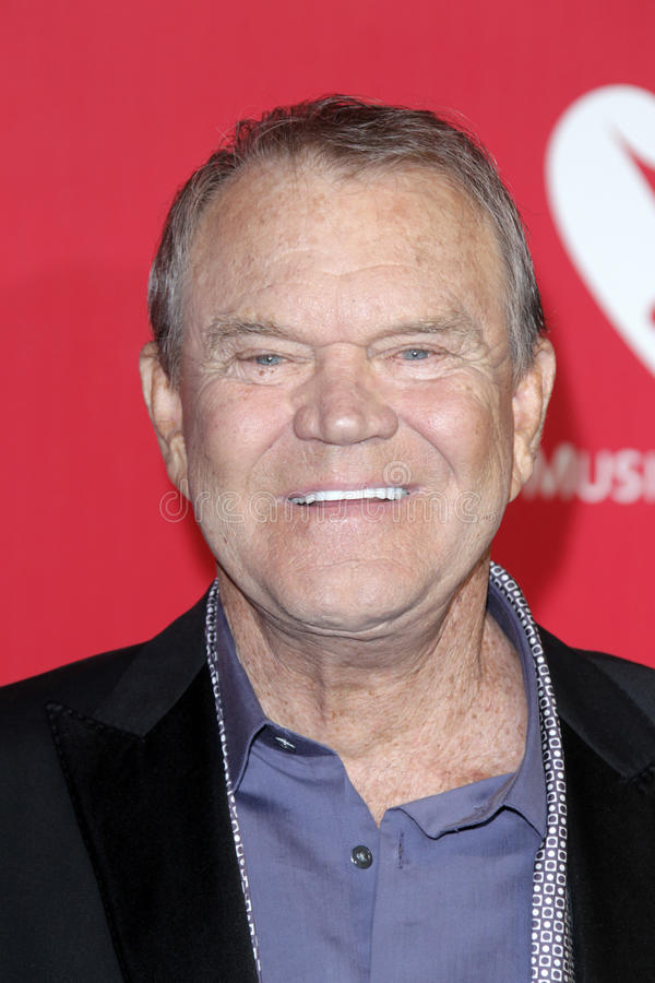 Glen Campbell. LOS ANGELES - FEB 10: Glen Campbell arrives at the 2012 MusiCares Gala honoring Paul McCartney at LA Convention Center on February 10, 2012 in Los royalty free stock images