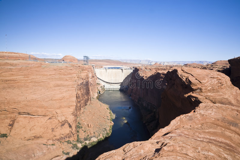 Glen Canyon Dam (AD) royalty free stock photography