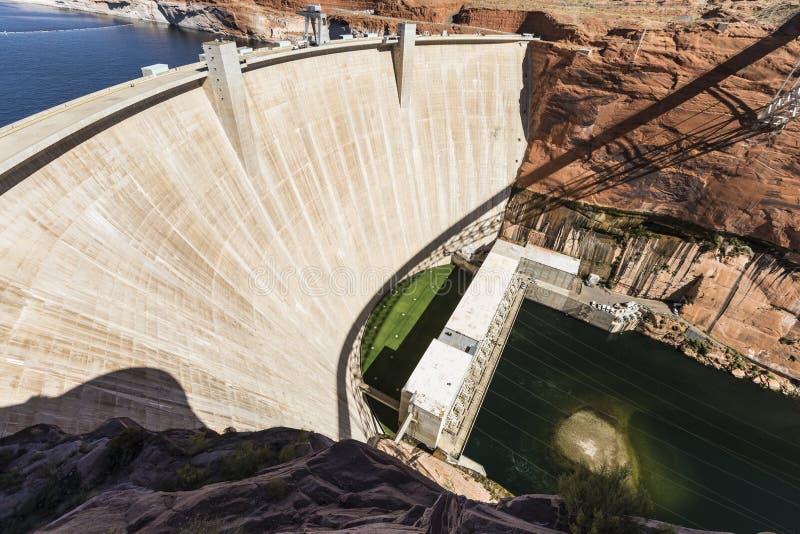 Glen Canyon Dam Arizona lizenzfreie stockfotos