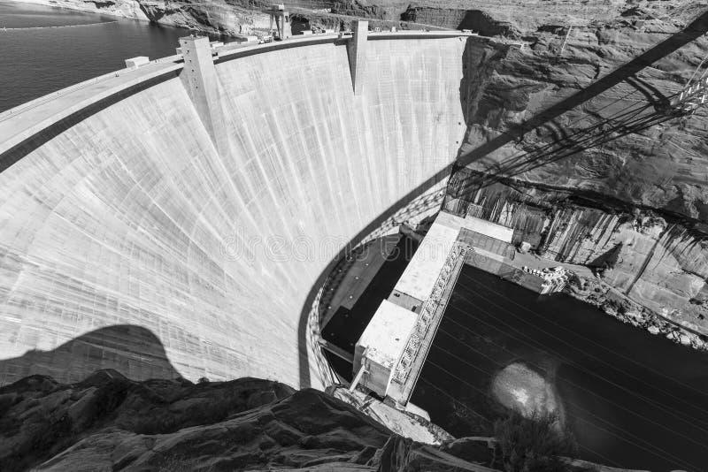 Glen Canyon Dam Arizona Black and White stock photos