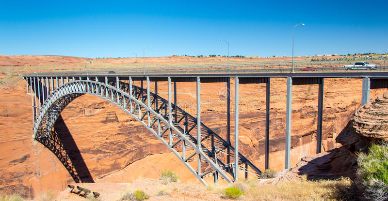 Glen Canyon Dam Bridge fotografie stock libere da diritti