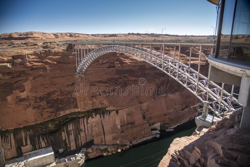 Glen Canyon Dam-brugpagina Arizona royalty-vrije stock foto's