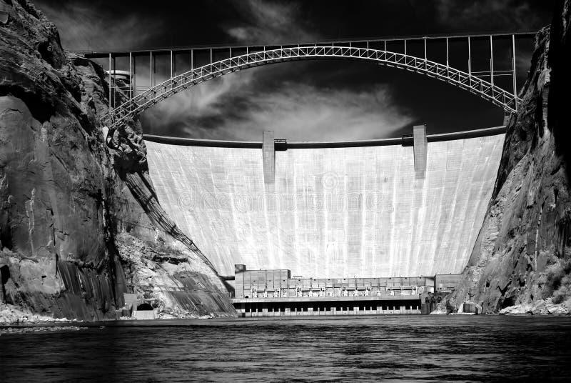 Glen Canyon Dam Colorado River o Arizona fotografia de stock royalty free