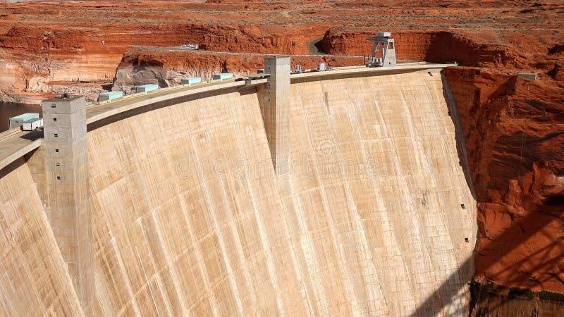 Glen Canyon Dam in der Seite, Arizona stockbild