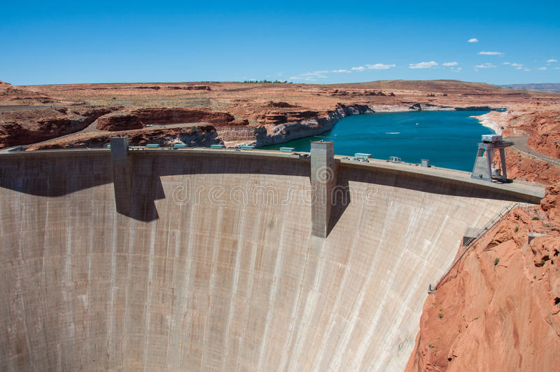 Glen Canyon Dam in der Seite, Arizona, USA stockfotos