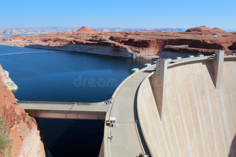 Glen Canyon Dam/lago Powell fotografía de archivo