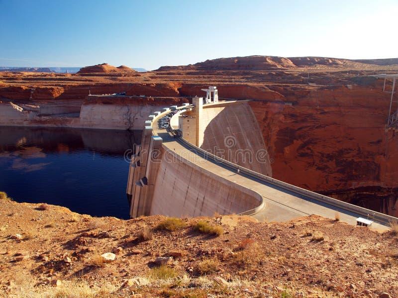 Glen Canyon Dam and Lake Powell stock photos