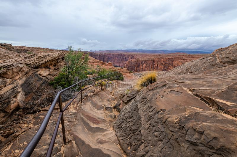 The Glen Canyon Dam National Recreation Area stock images