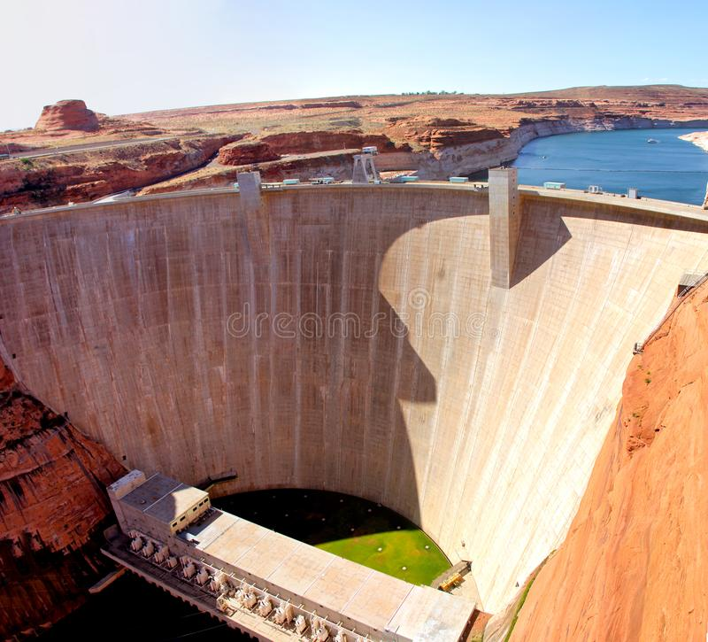 Glen Canyon Dam nel lago Powell Arizona fotografia stock