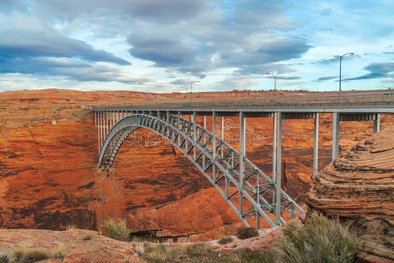 View of the Glen Canyon Dam Bridge.Page.Arizona.USA royalty free stock image