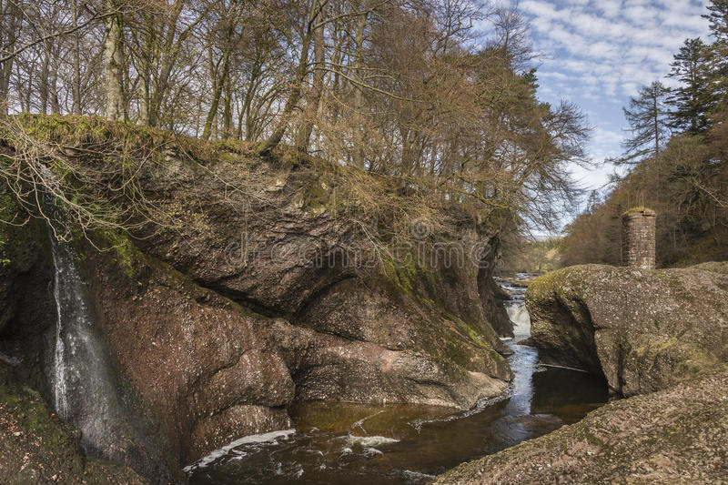Glen Esk Gorge in Scotland. royalty free stock images
