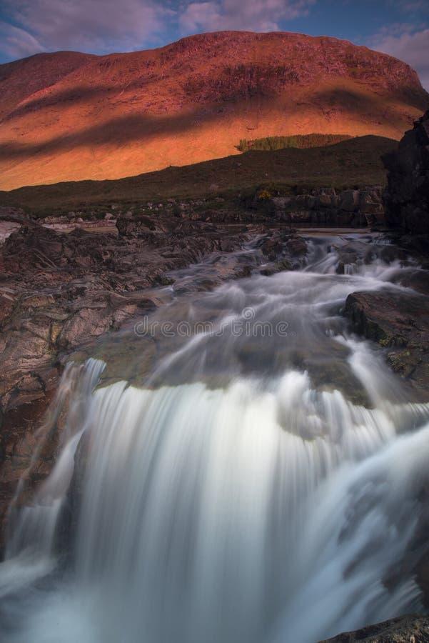 Glen Etive Falls fotos de archivo libres de regalías