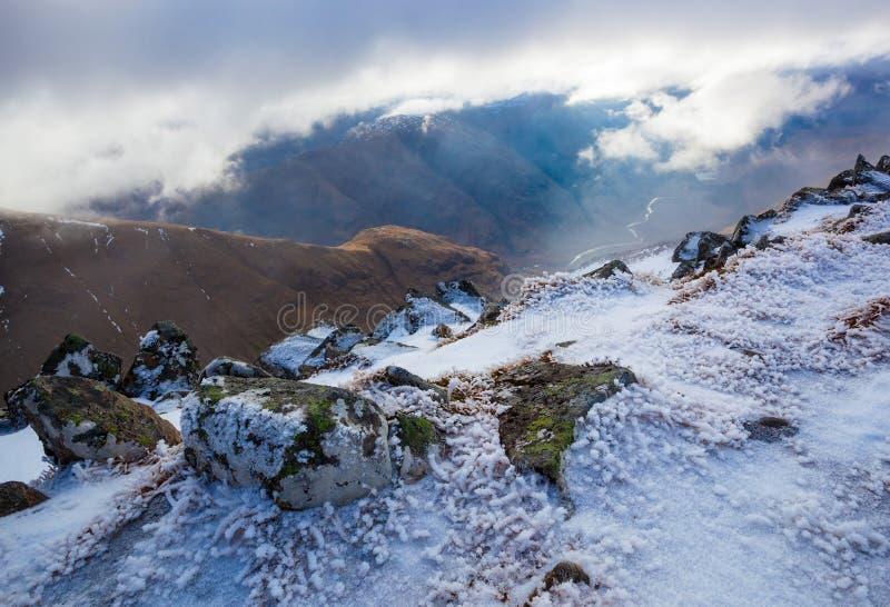 Glen Etive, Schotse Hooglanden stock fotografie