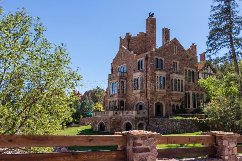 Glen Eyrie Castle royalty-vrije stock afbeelding