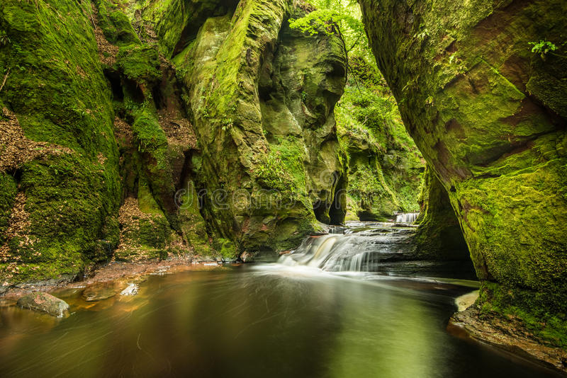 Glen Finnich in Schotland stock afbeelding