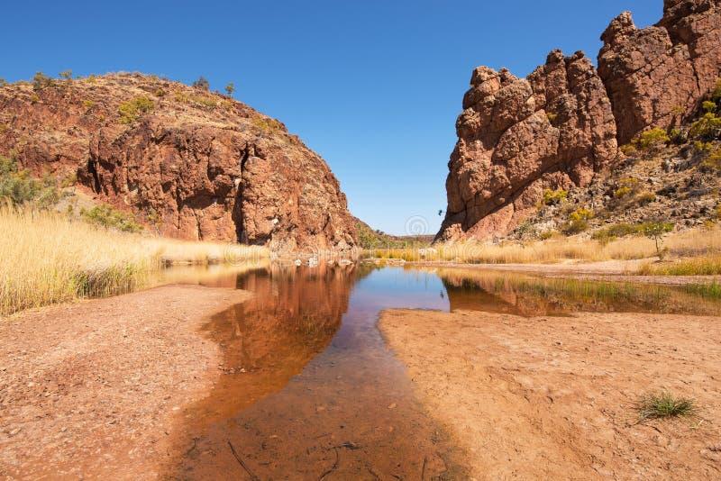 Glen Helen Gorge, Território do Norte, Austrália fotografia de stock royalty free