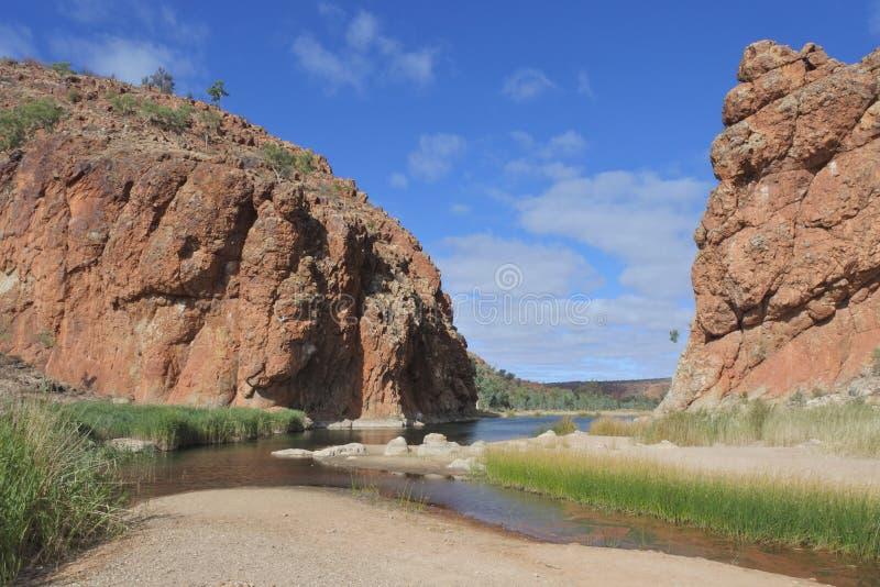 Glen Helen Gorge West MacDonnell National-Park-Nordterritorium Australien lizenzfreie stockfotografie