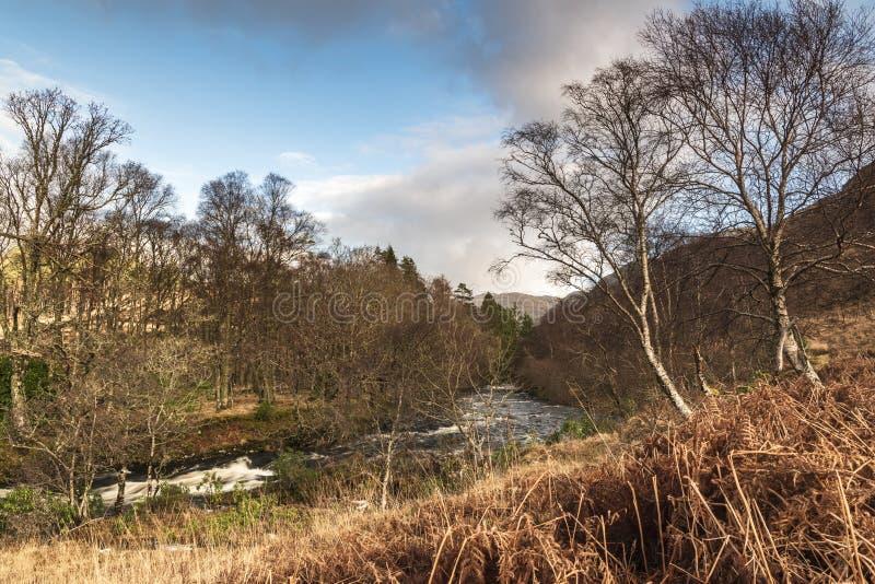 Glen Moidart. The River Moidart running through Glen Moidart, on the west coast of Scotland royalty free stock photo