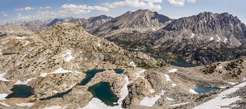Glen Pass Northern Panorama, Nationalpark König-Canyon lizenzfreie stockfotos