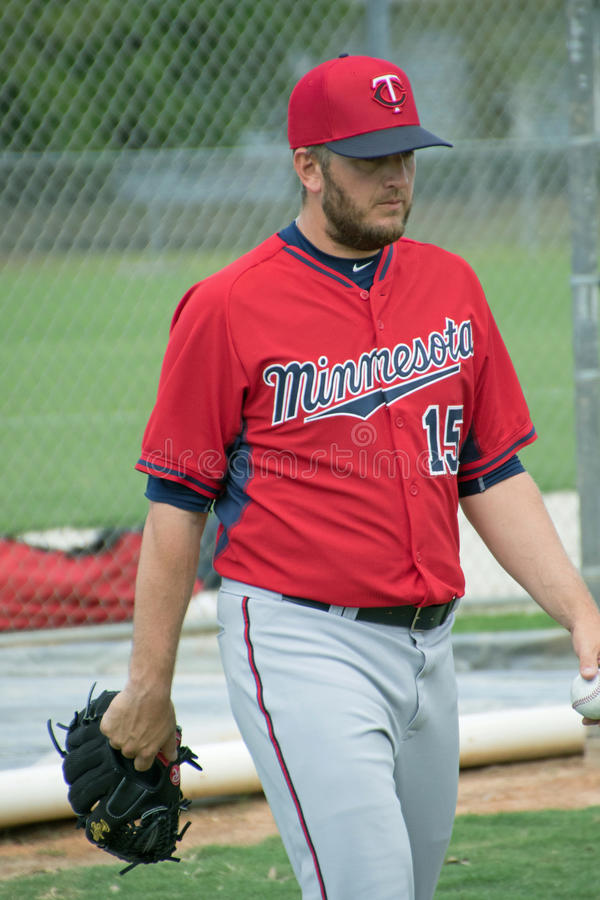 Glen Perkins Pitcher para os Minnesota Twins fotos de stock