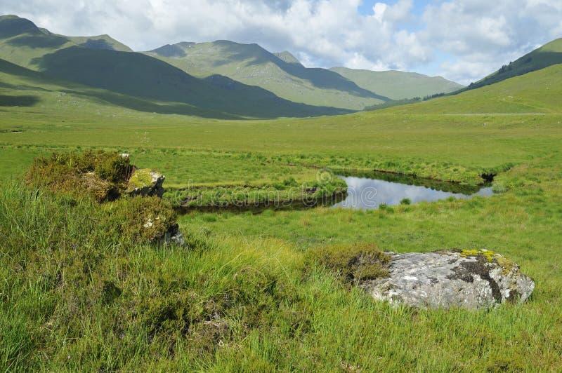 Glen Shiel. River Cluanie and Glen Shiel, Highland, Scotland royalty free stock photos