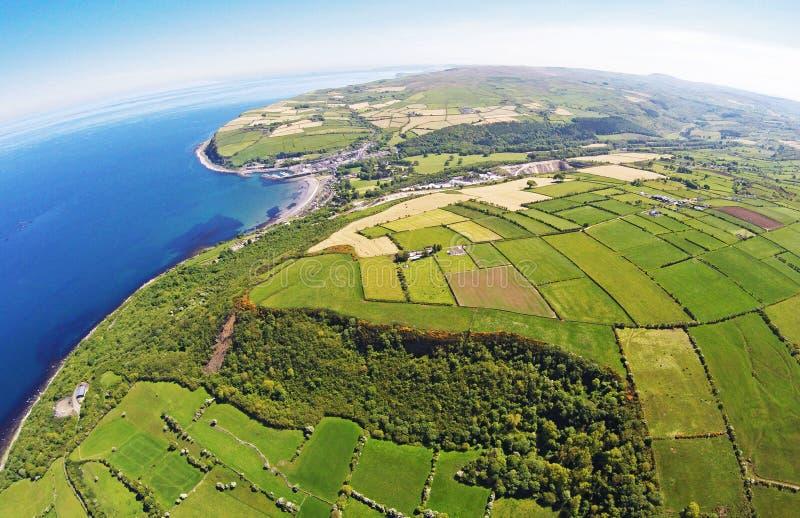 Glenarm Co.Antrim Northern Ireland. Ireland Dunluce Castle Co. Antrim Northern Ireland n.i. rathlin island gles of antrim green glens Giants Causway stock photos