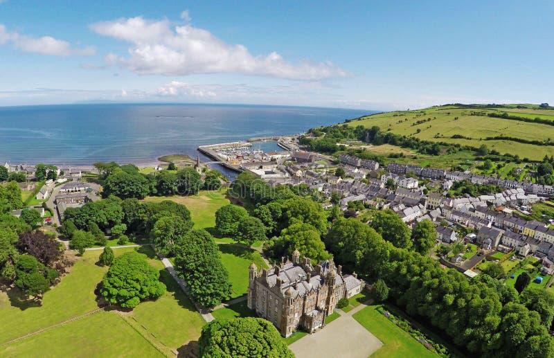 Glenarm-Schloss Co Antrim Nordirland stockbild