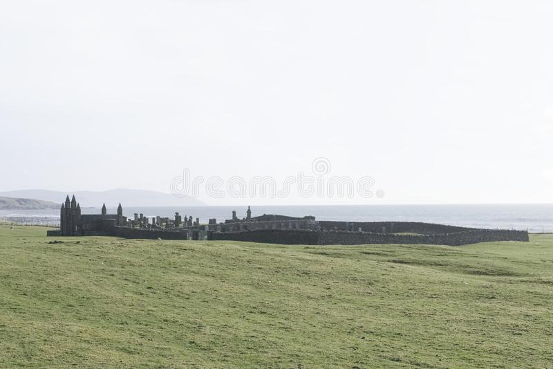 Glenbarr古老老坟园公墓在Kintyre阿盖尔-比特苏格兰英国 库存图片