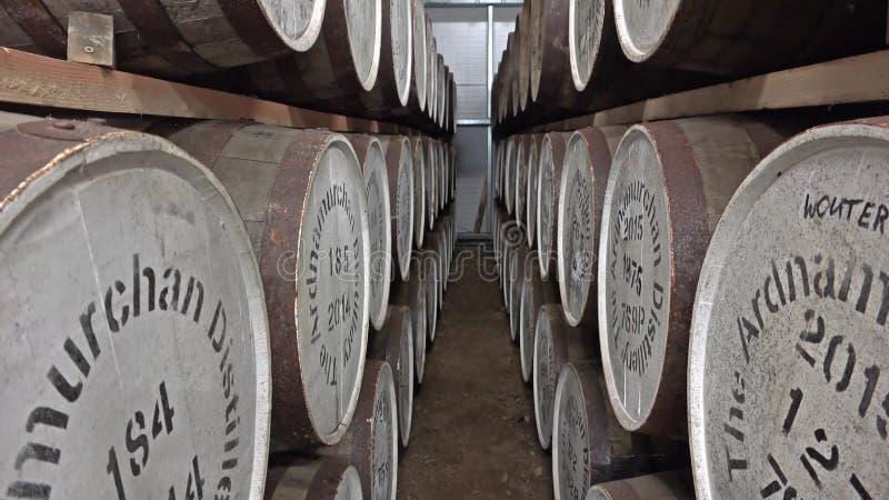 Glenbeg, Ardnamurchan/Шотландия - 26-ое мая 2017: Винокурня Ardnamurchan производит виски с 2014 и фактически видеоматериал
