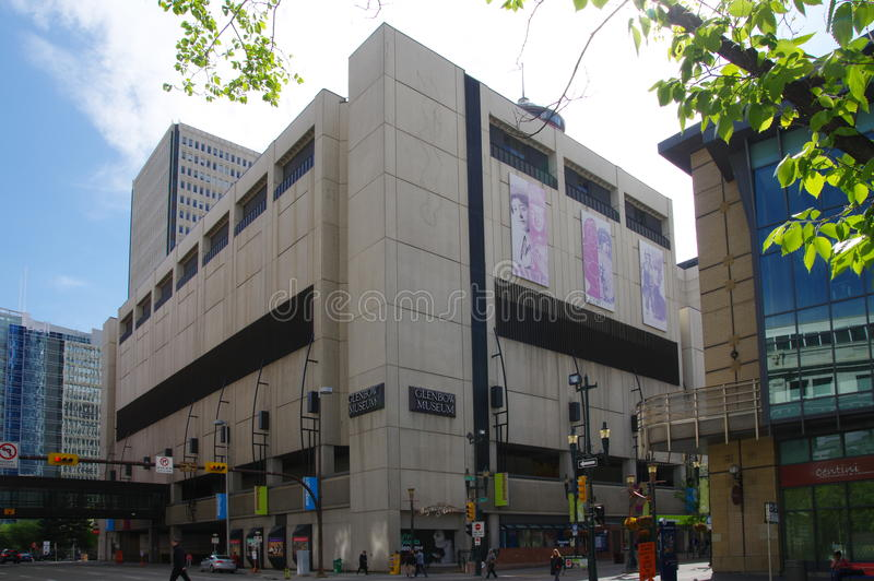 The Glenbow Museum, Calgary, Alberta Canada. CALGARY, CANADA - MAY 26:The Glenbow Museum is an art and history museum in the city of Calgary in the province of stock photography