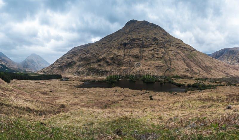 Glencoe berg arkivbilder