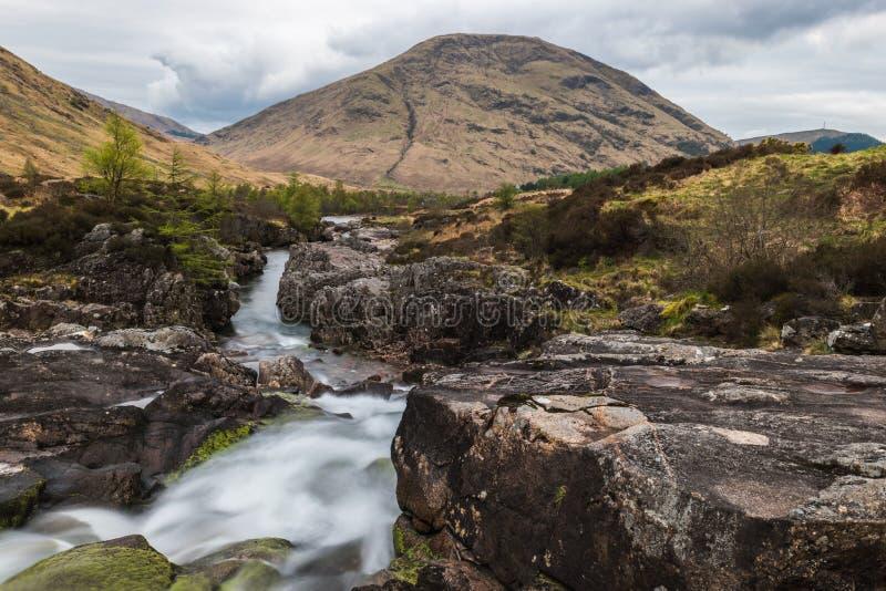 Glencoe flod royaltyfria foton