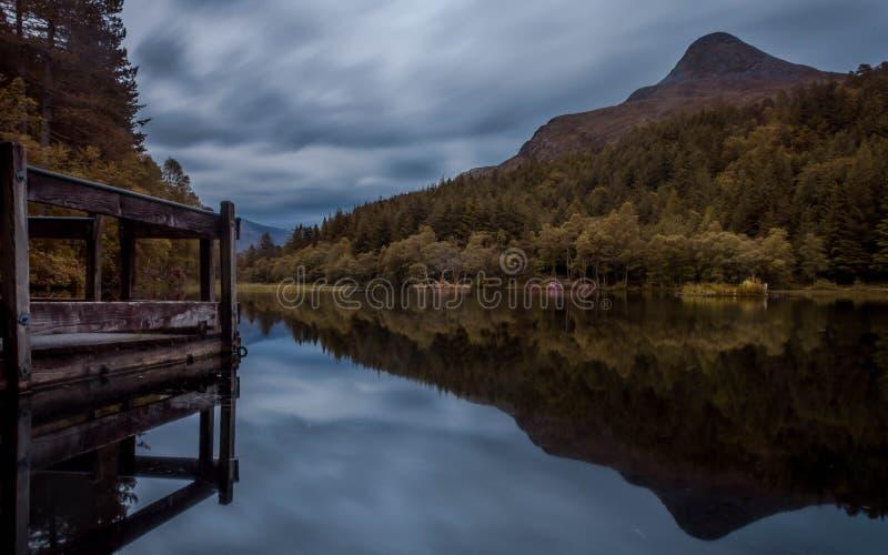 Glencoe lochan, Шотландия стоковая фотография rf