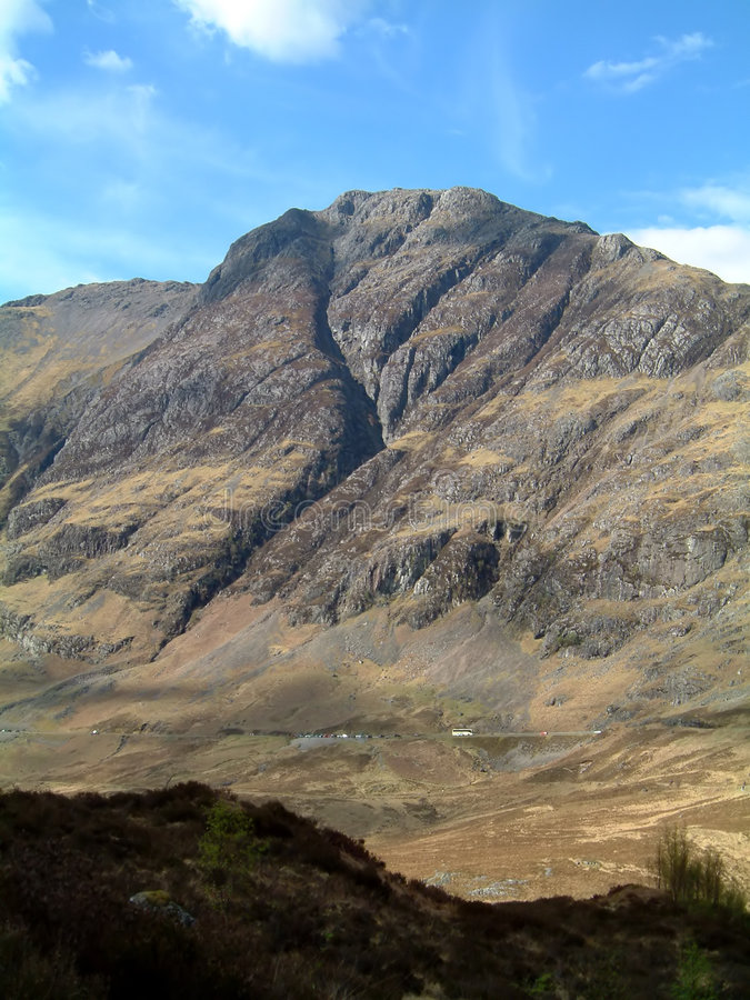 Glencoe from lost valley. Aonach Eagach from the lost valley, Glencoe, Scotland stock photography