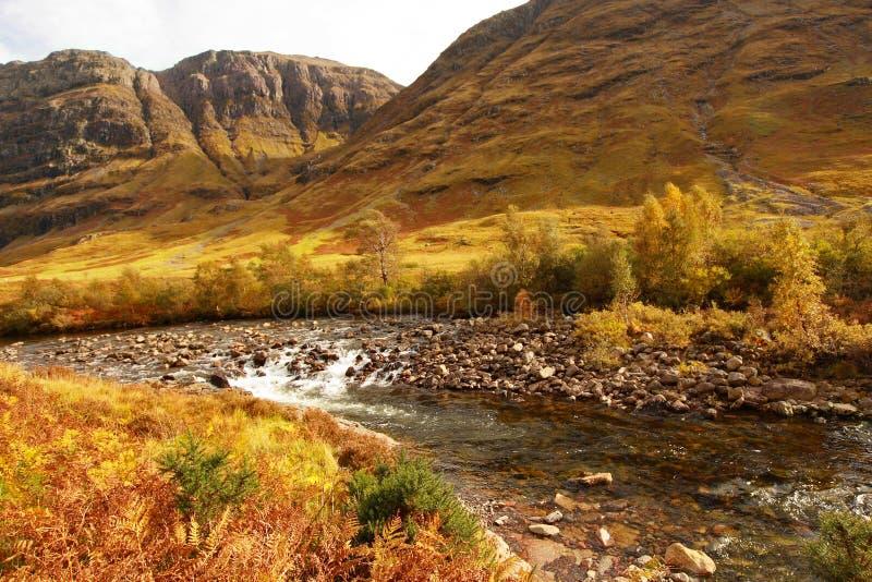 Glencoe, montanhas escocesas, Scotland, Reino Unido fotografia de stock royalty free