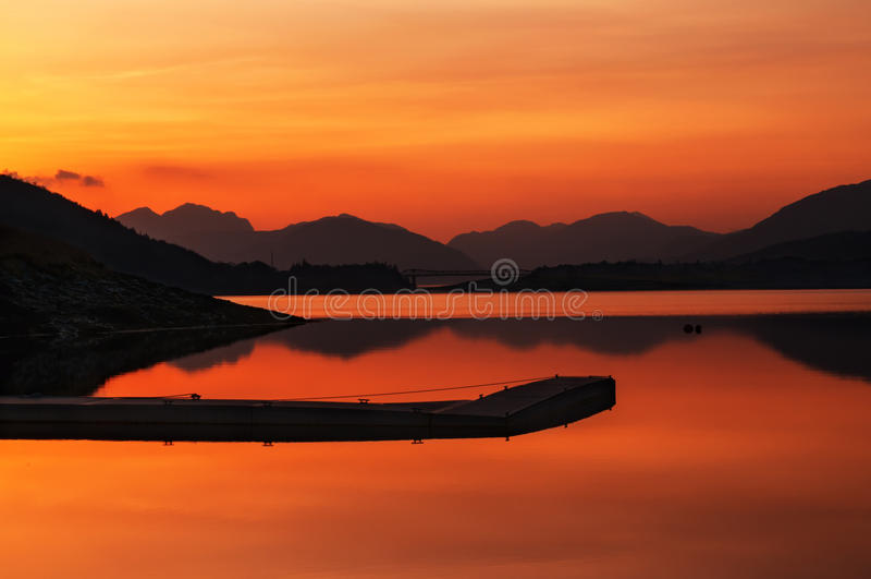 Glencoe Skottland solnedgång arkivfoto
