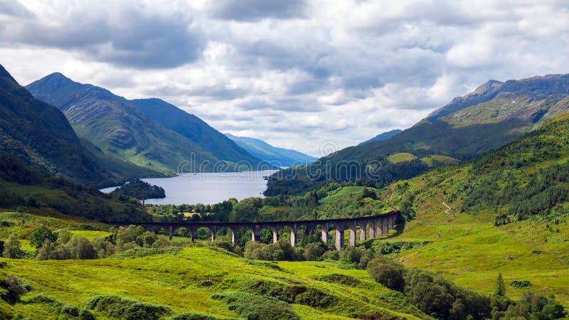 Glencoe Un tir dramatique de Glencoe dans les montagnes écossaises photos libres de droits