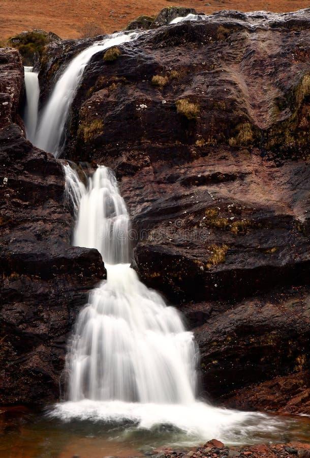 Glencoe vattenfall arkivfoto